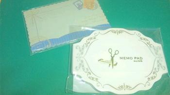 メモパッドとカード.JPG